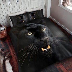 3D Animal Black Panther Premium Duvet Cover Bedding Set