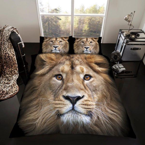 3D Animal Lion Premium Duvet Cover Bedding Set