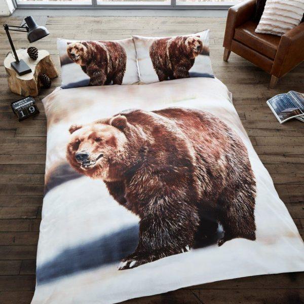 3D Animal Bear Premium Duvet Cover Bedding Set