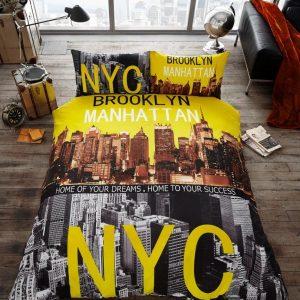 Brooklyn (Manhattan, NYC) Premium Duvet Cover Bedding Set – Single, Double, King