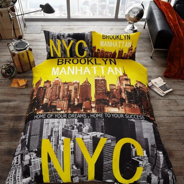 Brooklyn (Manhattan, NYC) Premium Duvet Cover Bedding Set – Single, Double, King