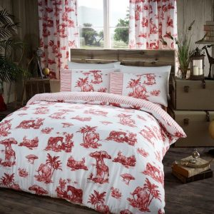 Safari Animal Printed Duvet Cover Bedding Set