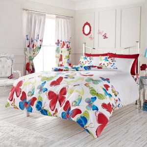 Modern Fashion Butterfly Duvet Cover Floral Bedding Set – Single, Double, King, Super King in Colors
