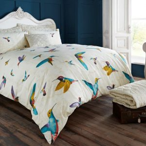 Animal Humming Bird Vintage Duvet Cover Bedding – Single, Double, King, Super King