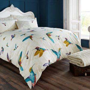 Animal Humming Bird Vintage Duvet Cover Bedding – Single, Double, King, Super King