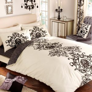 Jewel Floral Printed Duvet Cover Bedding Set – Single, Double, King, Super King, Pillow Case