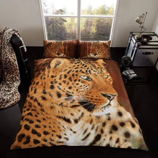 3D Animal Leopard Premium Duvet Cover Bedding Set