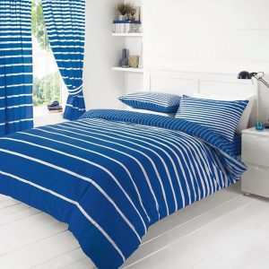 Linear Stripe Printed Duvet Cover Bedding Set – Single, Double, King, Super King, Pillow Case