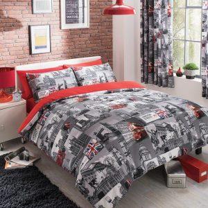 London City Modern Duvet Cover Bedding Set – Single, Double, King, Super King, Pillow Case