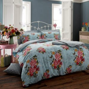 Vintage Memory Floral Duvet Cover Bedding – Single, Double, King, Super King, Pillow Case