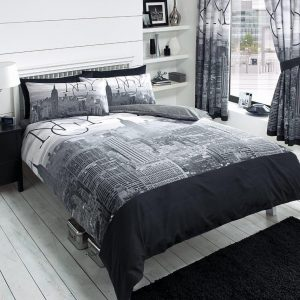 New York City NYC Modern Duvet Cover Bedding Set