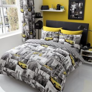 New York Patchi Duvet Cover Bedding Set – Single, Double, King – with pillow case