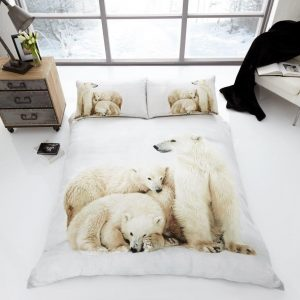3D Animal Polar Bear Premium Duvet Cover Bedding Set
