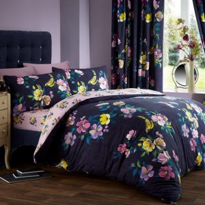 Rosehip Floral Printed Duvet Cover Bedding Set – Single, Double, King, Super King, Pillow Case