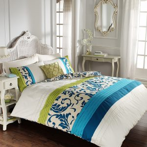 Floral Duvet Cover Scroll Signature Bedding Set – Single, Double, King, Super King