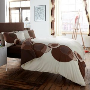 Solo Circle Printed Duvet Cover Bedding Set – Single, Double, King, Super King, Pillow Case
