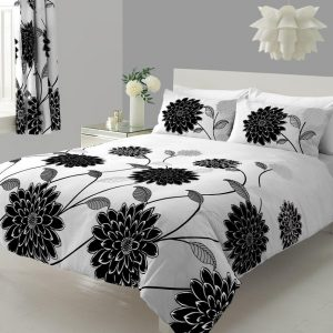 Sophia Printed Floral Duvet Cover Bedding Set – Single, Double, King, Super King, Pillow Case