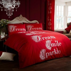 Dream Smile Sparkle Modern Duvet Cover Printed Bedding Set