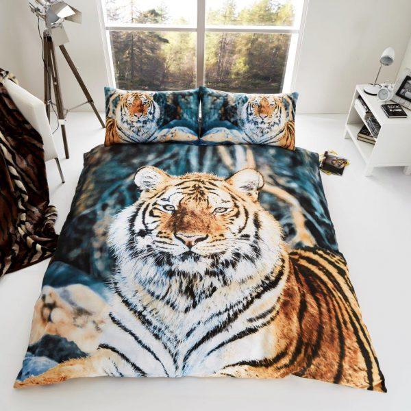 3D Animal Tiger Premium Duvet Cover Bedding Set
