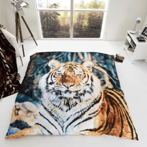 Printed 3D Animal Fur Throw, Tiger, Leopard, Bear, Wolf 150×200, 200×240