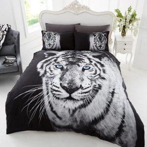 3D Animal White Tiger Premium Duvet Cover Bedding Set