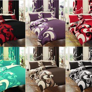 Printed Floral Grandeur Duvet Cover Bedding Set – Single, Double, King, Super King, Pillow Case