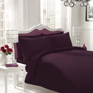 Plain Polycotton Fitted Bed Sheets – Single, Double, King, Super King