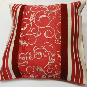 Floral Stripe Alta Cushion Covers Size 18×18 inch 45cm x 45cm (Pack of 4)