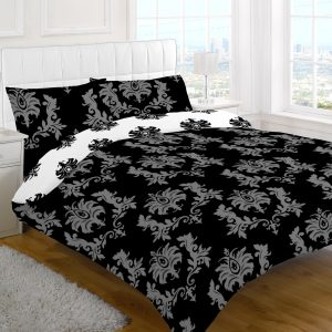 Chevron Floral Printed Duvet Cover Set – Single, Double, King, Super King