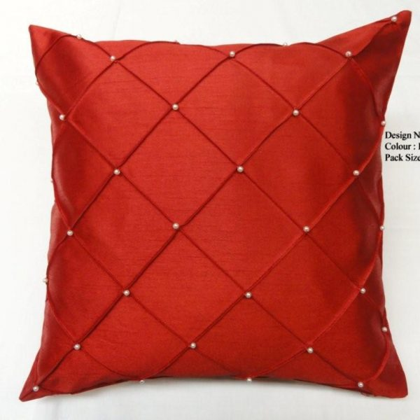 PEARL Bead Cushion Covers Size 18×18 inch 45cm x 45cm (Pack of 4)