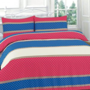 Easton Stripe Printed Duvet Set – Single, Double, King, Super King