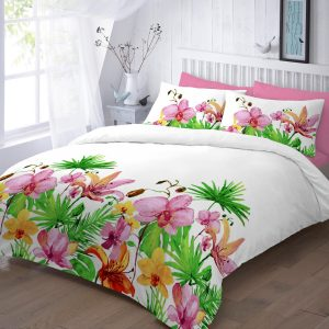 Lily Floral Printed Duvet Set – Single, Double, King, Super King