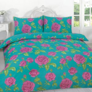 Meadow Floral Printed Duvet Cover Set – Double, King, Super King in Color