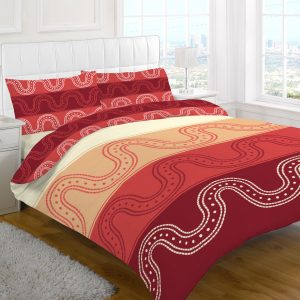 Printed Medallion Stripe Duvet Cover Set – Single, Double, King, Super King