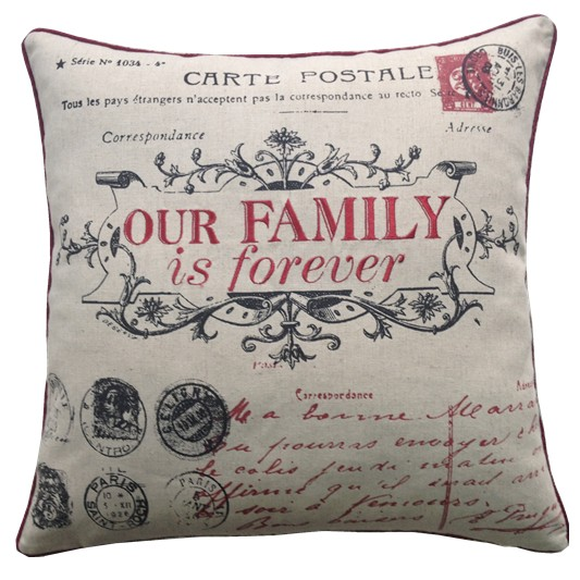 Our Family for Ever Cushion Covers Size 18×18 inch 45cm x 45cm (Pack of 4)