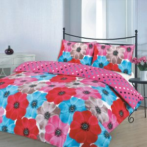 Floral Printed Sophia PloyCotton Duvet Cover Set -AYZ- Single, Double, King, Super King