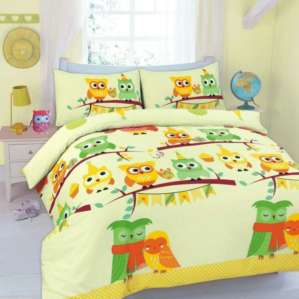 Animal Cute Owls Printed Duvet Cover Set -AYZ- Single, Double, King, Super King