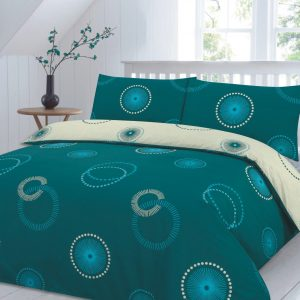 Eden Circle Printed Duvet Cover Set -AYZ- Single, Double, King, Super King, Pillow Case