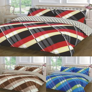 Hardy Check Printed Duvet Cover Set -AYZ- Single, Double, King, Super King