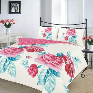 Isabella Polycotton Floral Printed Duvet Cover Set- Single, Double, King, Super King, Pillow Case