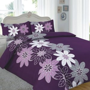 Printed Floral Lynda Duvet Set – Single, Double, King, Super King in colors