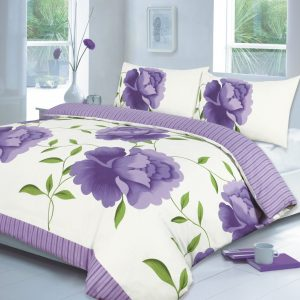 Rosaleen Floral Printed Duvet Cover Set -AYZ- Single, Double, King, Super King