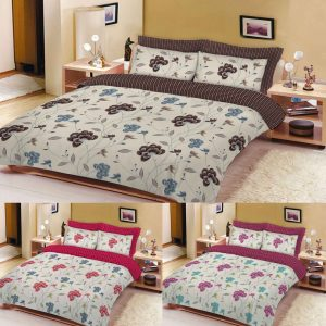 Rose Flower Printed Floral Duvet Cover Set – Single, Double, King, Super King in color