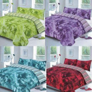 Rose Floral Printed Duvet Cover Set in colors