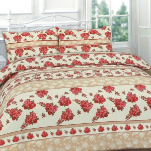 Roses Floral Printed Duvet Cover Set – Single, Double, King, Super King