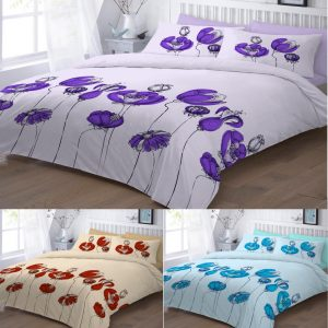 Floral Printed Scarlet Duvet Cover Set – Single, Double, King, Super King