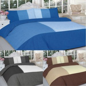 Suede Color Patch Printed Duvet Cover Set – Single, Double, King, Super King