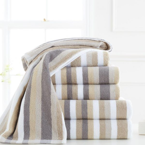 100% Egyptian Cotton Victoria Stripe Hand Towel – Pack of 4