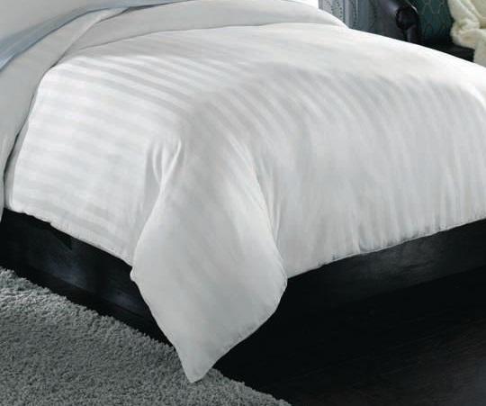 satin stripe flat bed sheet