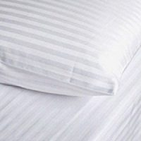 satin stripe pillow